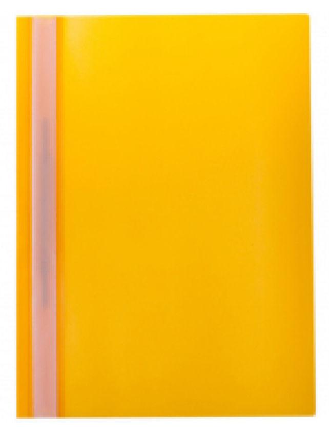 Папка-скоросшиватель Silwerhof 255082-11 A4 прозрач.верх.лист полипропилен желтый 0.10/0.12мм (упак.