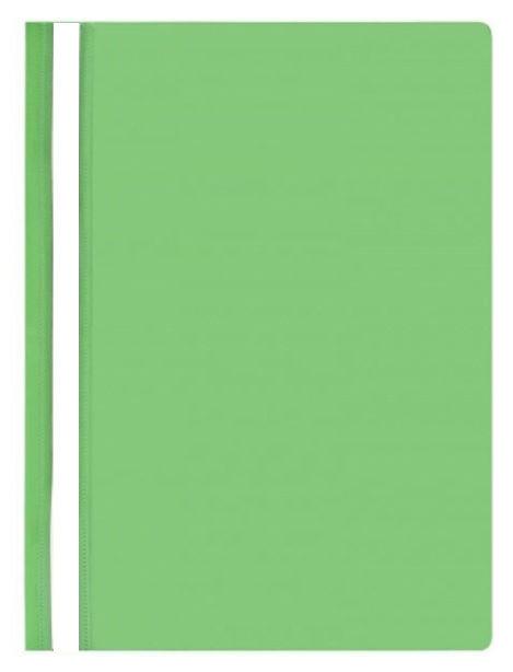 Папка-скоросшиватель Silwerhof 255082-03 A4 прозрач.верх.лист полипропилен зеленый 0.10/0.12мм (упак