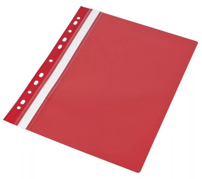 Папка-скоросшиватель Silwerhof Classic 255117-04 A4 прозрач.верх.лист боков.перф. полипропилен красн
