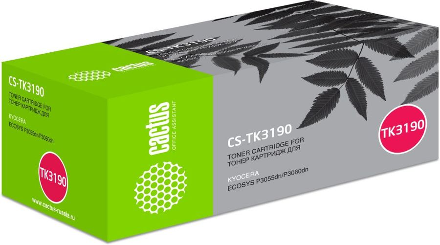Картридж CACTUS CS-TK3190, черный