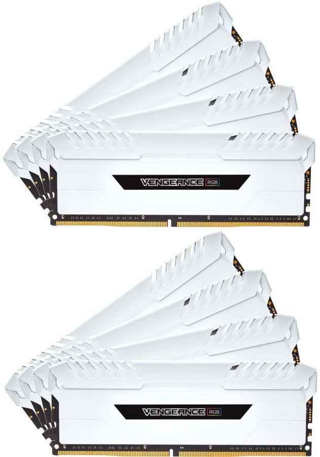Модуль памяти CORSAIR Vengeance RGB CMR128GX4M8C3000C16W DDR4 -  8x 16Гб 3000, DIMM,  Ret