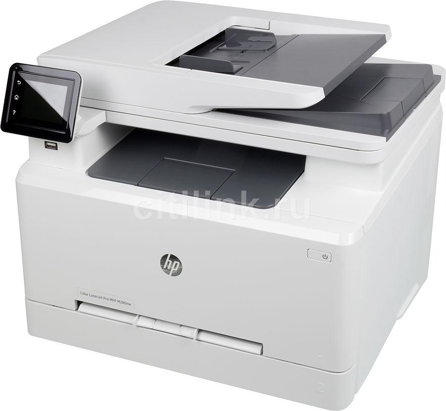 МФУ HP Color LaserJet Pro M280nw,  A4,  цветной,  лазерный,  белый [t6b80a]