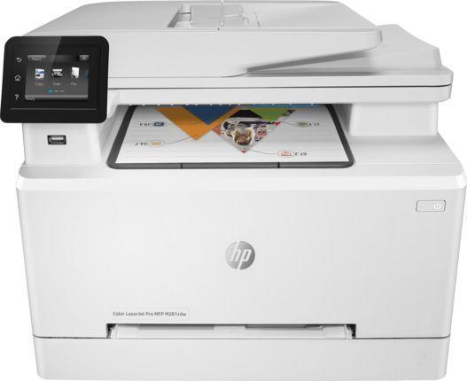 МФУ лазерный HP Color LaserJet Pro MFP M281fdw,  A4,  цветной,  лазерный,  белый [t6b82a]