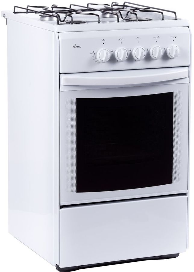 Газовая плита FLAMA RG 24026 W,  газовая духовка,  белый