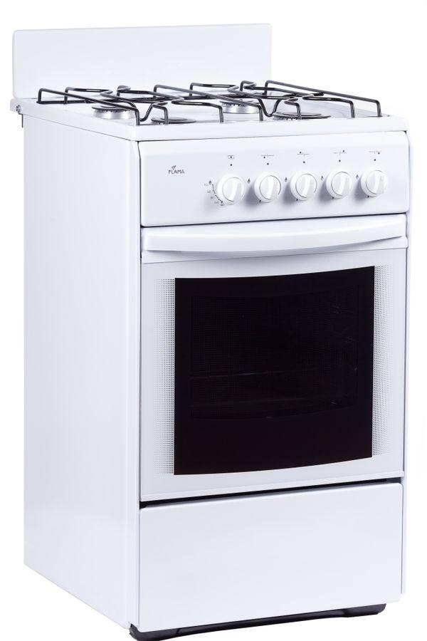 Газовая плита FLAMA RG 24027 W,  газовая духовка,  белый
