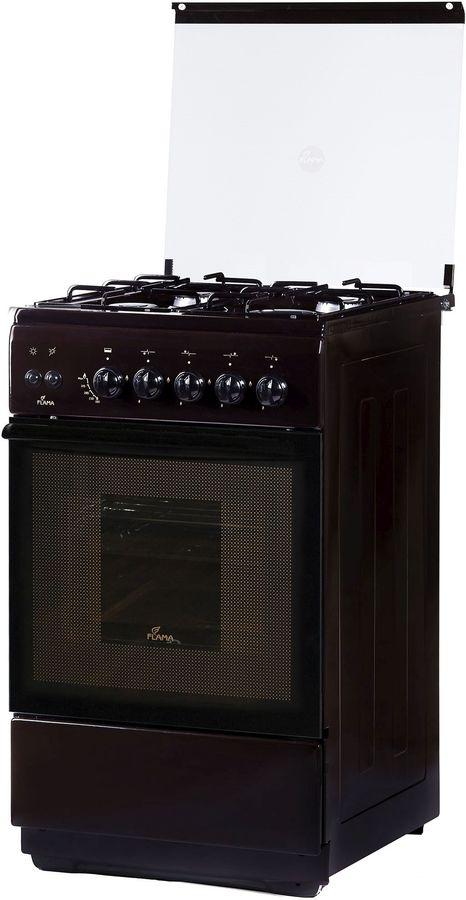 Газовая плита FLAMA FG 2424 B,  газовая духовка,  коричневый