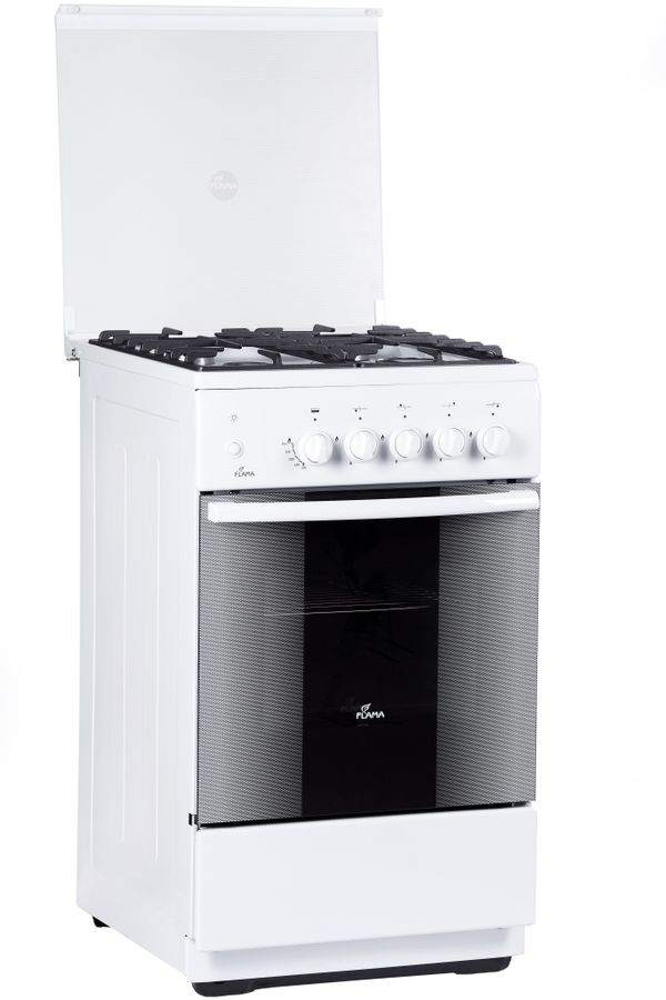 Газовая плита FLAMA FG 24215 W,  газовая духовка,  белый