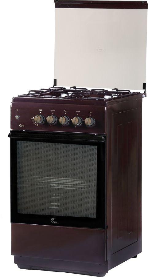Газовая плита FLAMA FG 2411 B,  газовая духовка,  коричневый