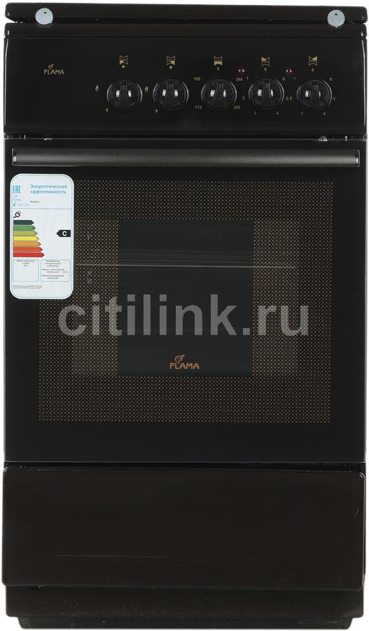Газовая плита FLAMA RK 2211 B,  электрическая духовка,  коричневый
