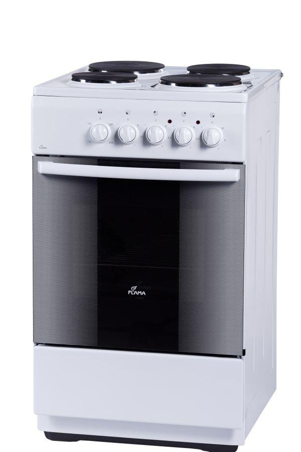 Электрическая плита FLAMA FE 1403 W,  эмаль,  белый