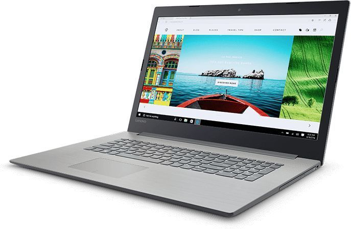 Ноутбук LENOVO IdeaPad 320-17IKB, 17.3, Intel Core i3 7100U 2.4ГГц, 6Гб, 1000Гб, Intel HD Graphics 620, Windows 10, 80XM00GYRK, серый ноутбук lenovo legion y920 17ikb 17 3 1920x1080 intel core i7 7820hk 80yw000ark