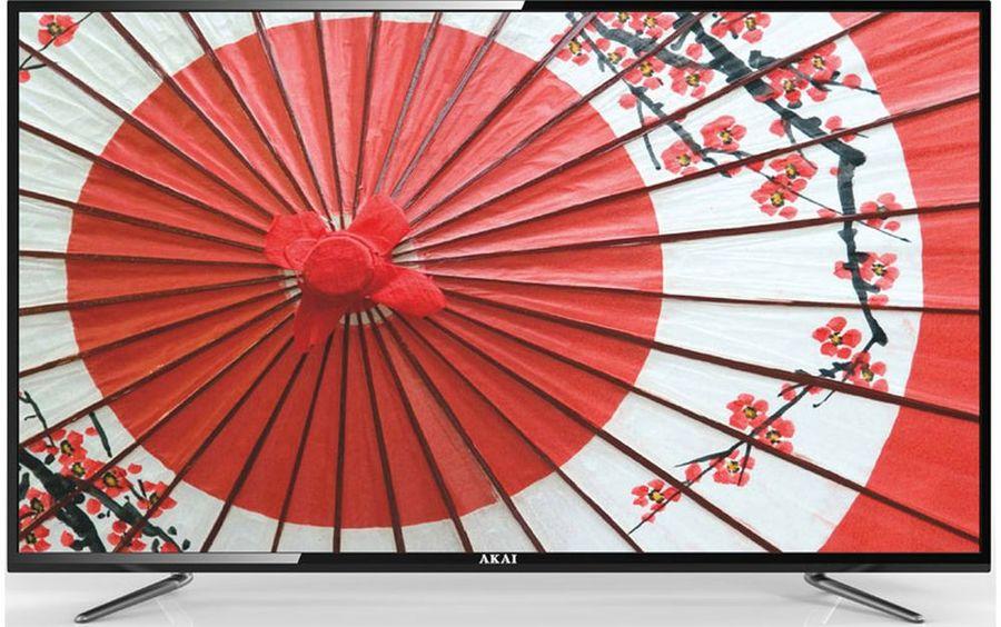 "LED телевизор AKAI LEA-55B57P  ""R"", 55"", FULL HD (1080p),  черный"