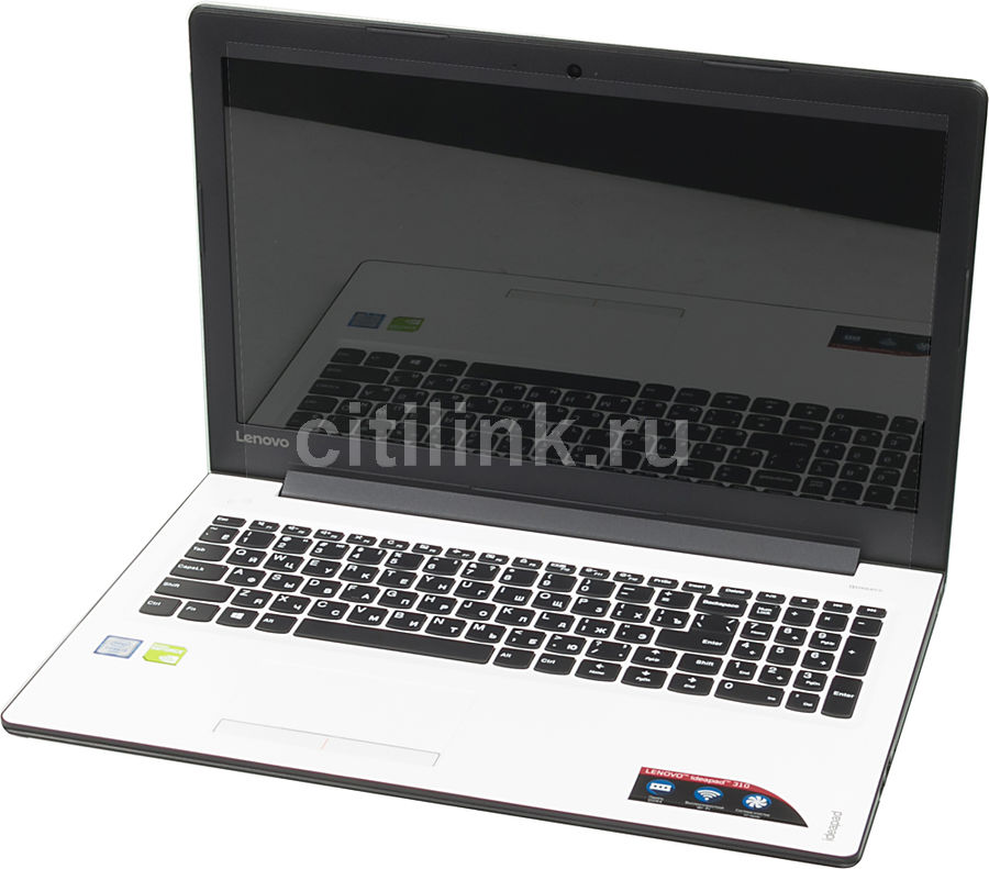 Ноутбук LENOVO IdeaPad 310-15ISK, 15.6, Intel Core i3 6006U 2ГГц, 6Гб, 1000Гб, nVidia GeForce 920M - 2048 Мб, Windows 10, 80SM01RMRK, белый ноутбук lenovo ideapad 520 15ikb 15 6 intel core i3 7100u 2 4ггц 8гб 1000гб nvidia geforce 940mx 2048 мб windows 10 бронзовый [80yl00nfrk]