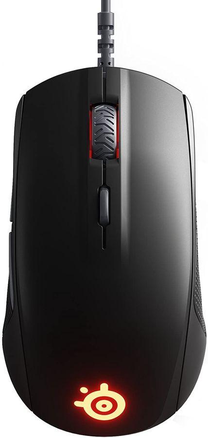 Мышь STEELSERIES Rival 110 оптическая проводная USB, черный [62466]