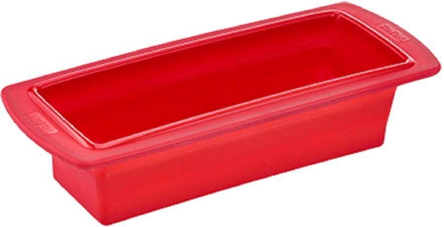Форма для выпечки Tefal J4094814 прямоуг. 24см силикон платиновый красный (2100088473)
