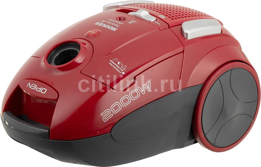 Пылесос HOOVER TTE2005 019, 2000Вт, красный