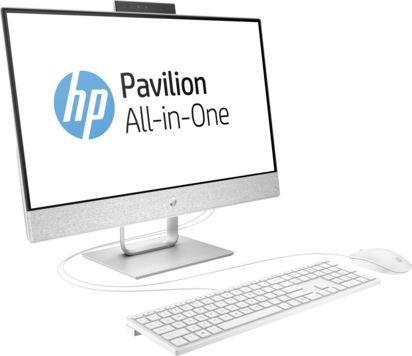 Моноблок HP Pavilion 24-x003ur, Intel Core i3 7100T, 4Гб, 16Гб Intel Optane,  1000Гб, Intel HD Graphics 630, Windows 10, белый [2mj54ea]