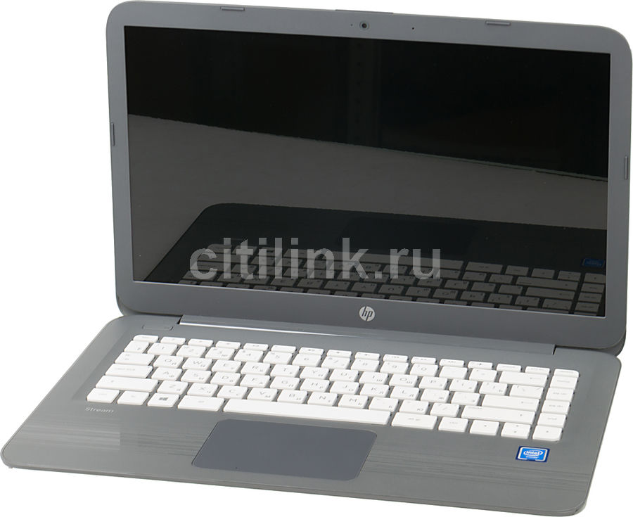 Ноутбук HP Stream 14-ax014ur, 14, Intel Celeron N3060 1.6ГГц, 2Гб, 32Гб SSD, Intel HD Graphics 400, Windows 10, серый [2eq31ea]Ноутбуки<br>экран: 14;  разрешение экрана: 1366х768; процессор: Intel Celeron N3060; частота: 1.6 ГГц (2.48 ГГц, в режиме Turbo); память: 2048 Мб, DDR3L, 160 МГц; SSD: 32 Гб; Intel HD Graphics 400; WiFi;  Bluetooth; HDMI; WEB-камера; Windows 10<br><br>Линейка: Stream