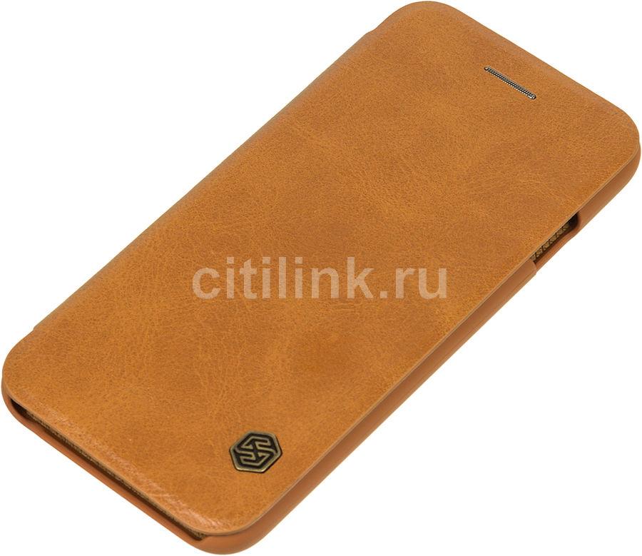 Чехол (флип-кейс)  Nillkin Qin, для Apple iPhone 6/6S, коричневый