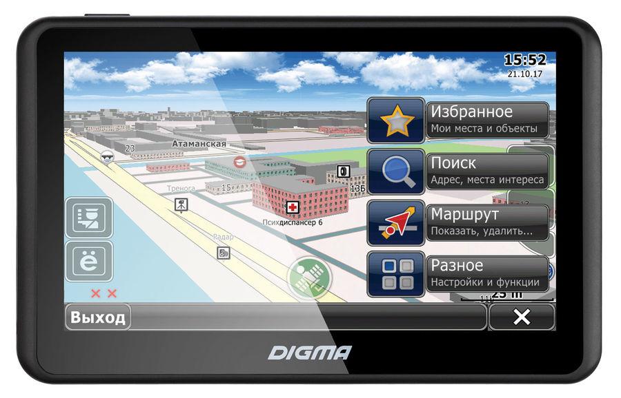 """Навигатор DIGMA ALLDRIVE 505,  5"""",  авто, 4Гб, CityGuide,  черный"""