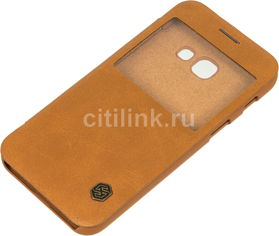Чехол (флип-кейс) Nillkin Qin, для Samsung Galaxy A3 (2017), коричневый nillkin qin leather case чехол для samsung galaxy s8 plus braun
