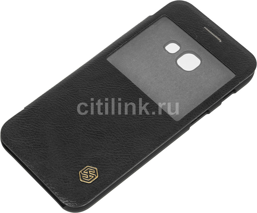 Чехол (флип-кейс) Nillkin Qin, для Samsung Galaxy A3 (2017), черный nillkin qin leather case чехол для samsung galaxy s8 plus braun