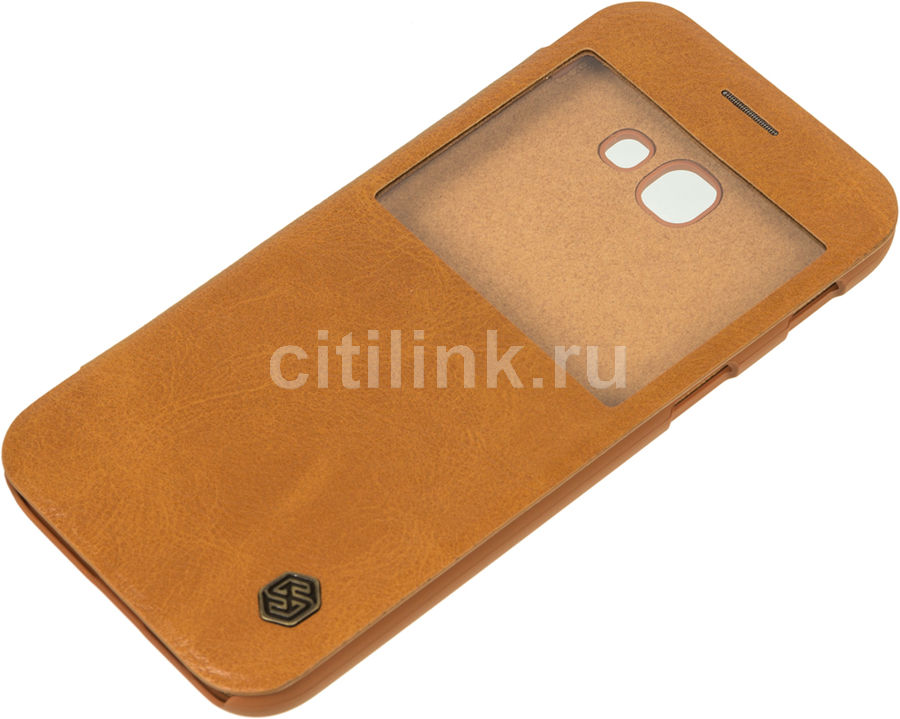 Чехол (флип-кейс) Nillkin Qin, для Samsung Galaxy A5 (2017), коричневый nillkin qin leather case чехол для samsung galaxy s8 plus braun