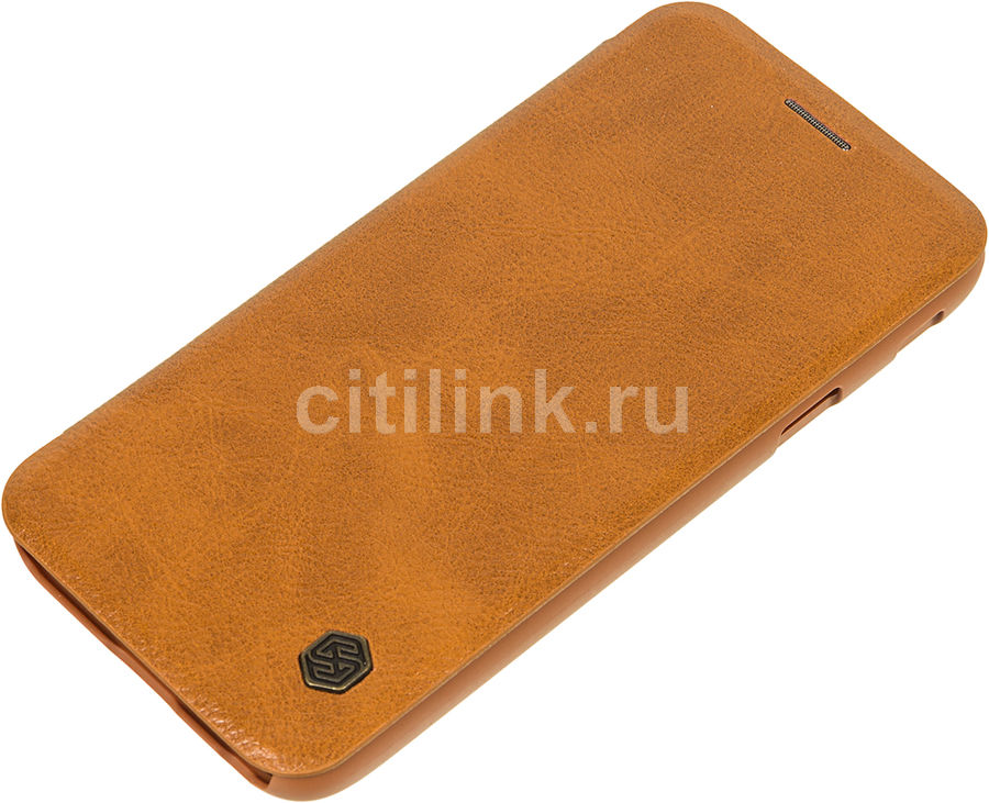 Чехол (флип-кейс) Nillkin Qin, для Samsung Galaxy J3 (2017), коричневый nillkin qin leather case чехол для samsung galaxy s8 plus braun