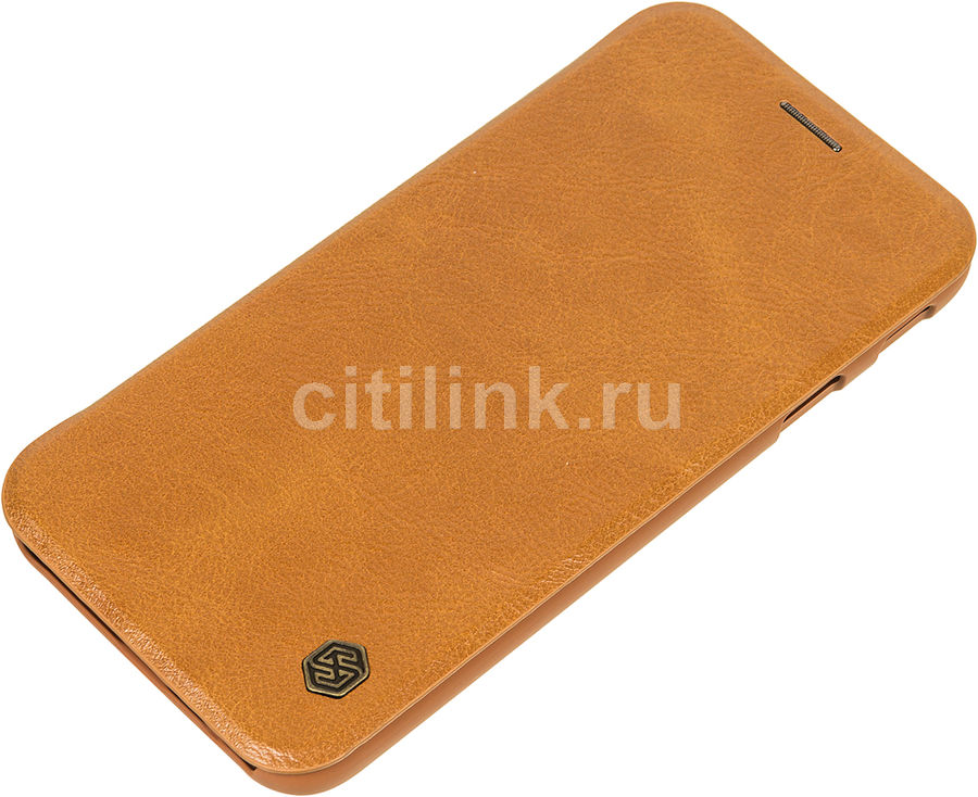 Чехол (флип-кейс) Nillkin Qin, для Samsung Galaxy J7 (2017), коричневый nillkin qin leather case чехол для samsung galaxy s8 plus braun