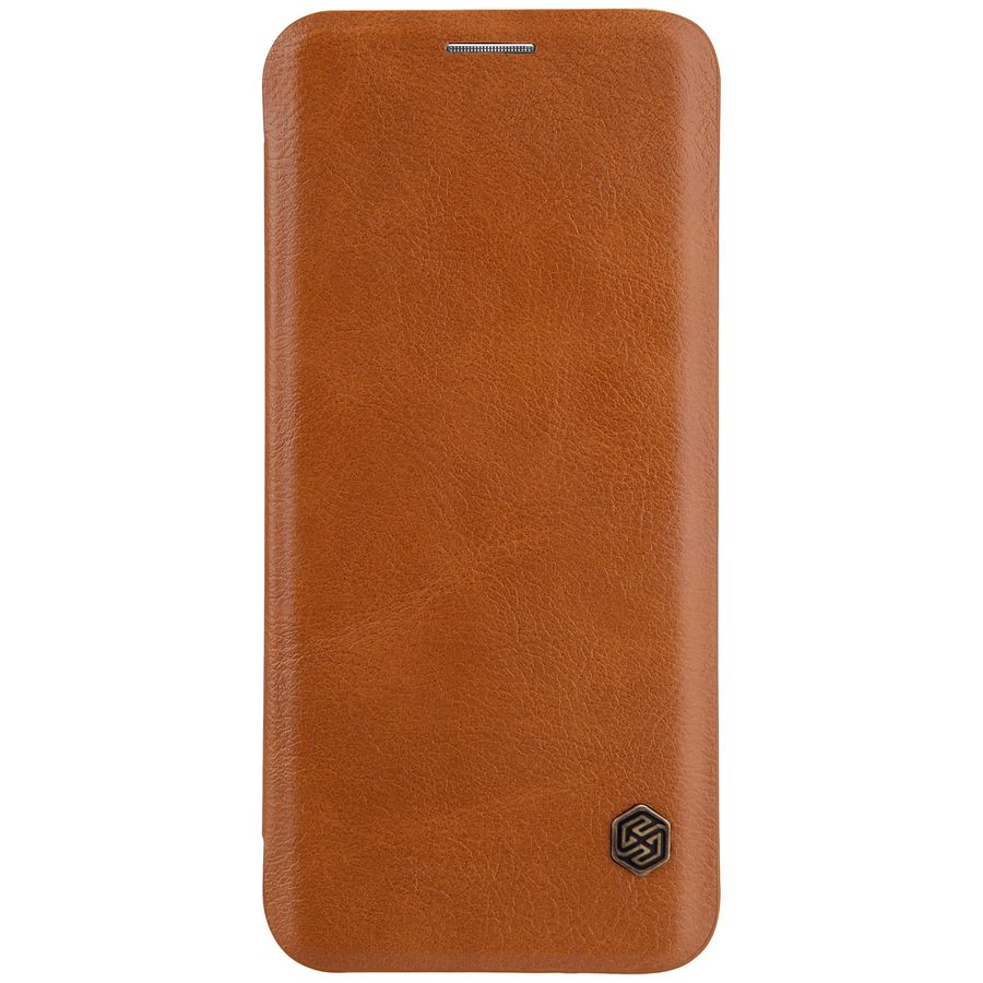 Чехол (флип-кейс) Nillkin Qin, для Samsung Galaxy S8, коричневый nillkin qin leather case чехол для samsung galaxy s8 plus braun