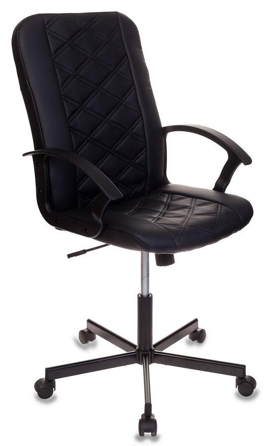 Кресло БЮРОКРАТ CH-550, на колесиках, искусственная кожа, черный [ch-550/black]