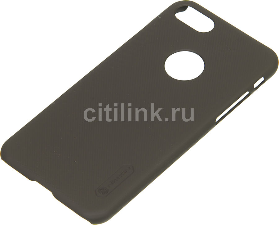 Чехол (клип-кейс) Nillkin Super Frosted Shield, для Apple iPhone 7, коричневый apple чехол клип кейс apple для apple iphone 7 mmy52zm a черный