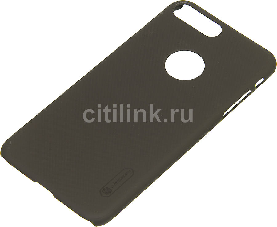 Чехол (клип-кейс) Nillkin Super Frosted Shield, для Apple iPhone 7 Plus, коричневый чехол книжка nillkin sparkle leather для apple iphone 7 plus