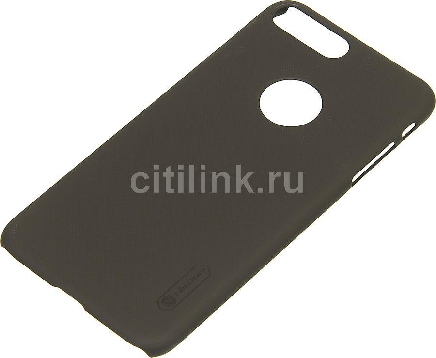 Чехол (клип-кейс) NILLKIN Super Frosted Shield, для Apple iPhone 7 Plus, коричневый