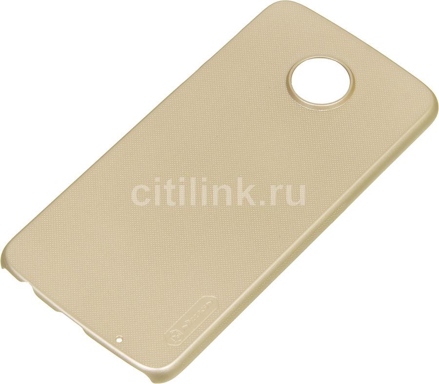 Чехол (клип-кейс)  Nillkin Super Frosted Shield, для Motorola Moto Z2 Play, золотистый