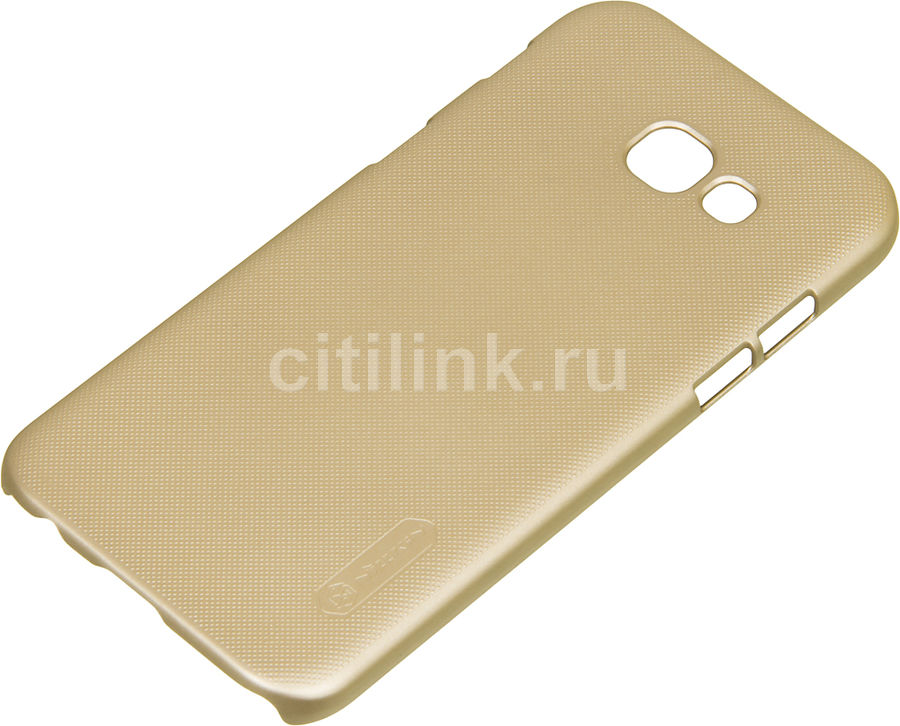 Чехол (клип-кейс) Nillkin Super Frosted Shield, для Samsung Galaxy A5 (2017), золотистый nillkin super frosted shield чехол для samsung galaxy mega 6 3 black