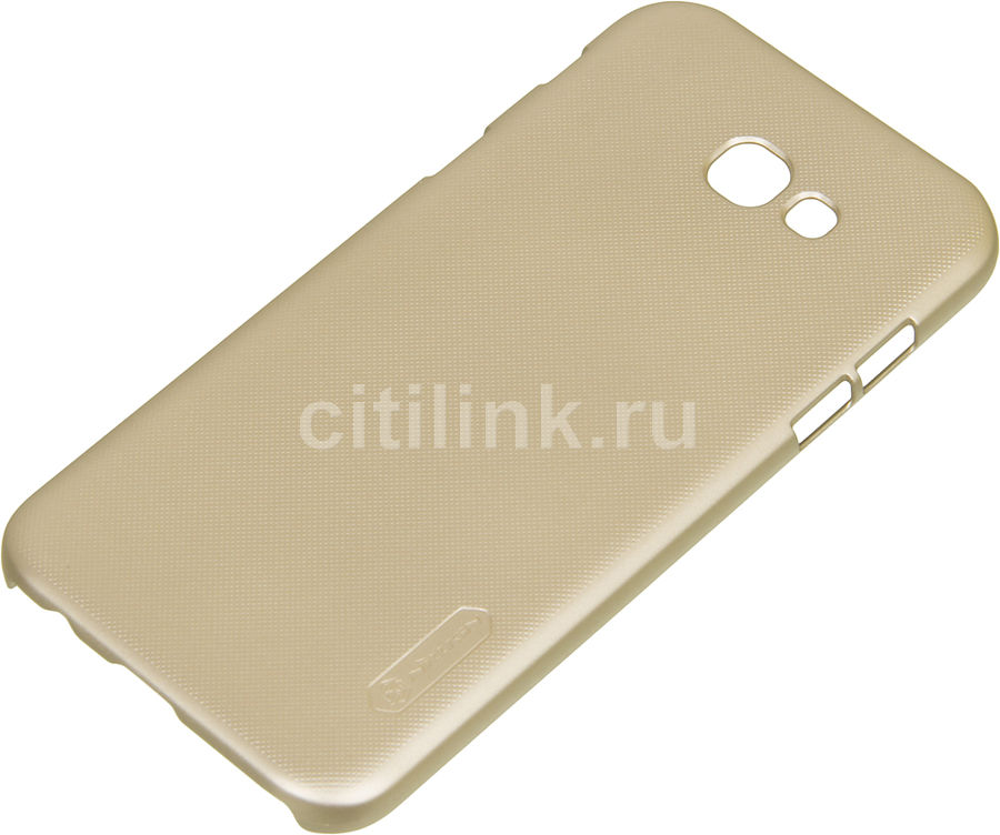 Чехол (клип-кейс) Nillkin Super Frosted Shield, для Samsung Galaxy A7 (2017), золотистый nillkin super frosted shield чехол для samsung galaxy mega 6 3 black