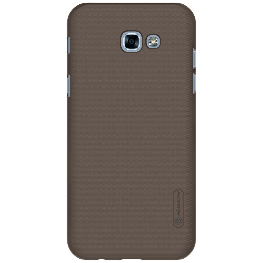 Чехол (клип-кейс) NILLKIN Super Frosted Shield, для Samsung Galaxy A7 (2017), коричневый nillkin super frosted shield чехол для samsung galaxy s4 active black