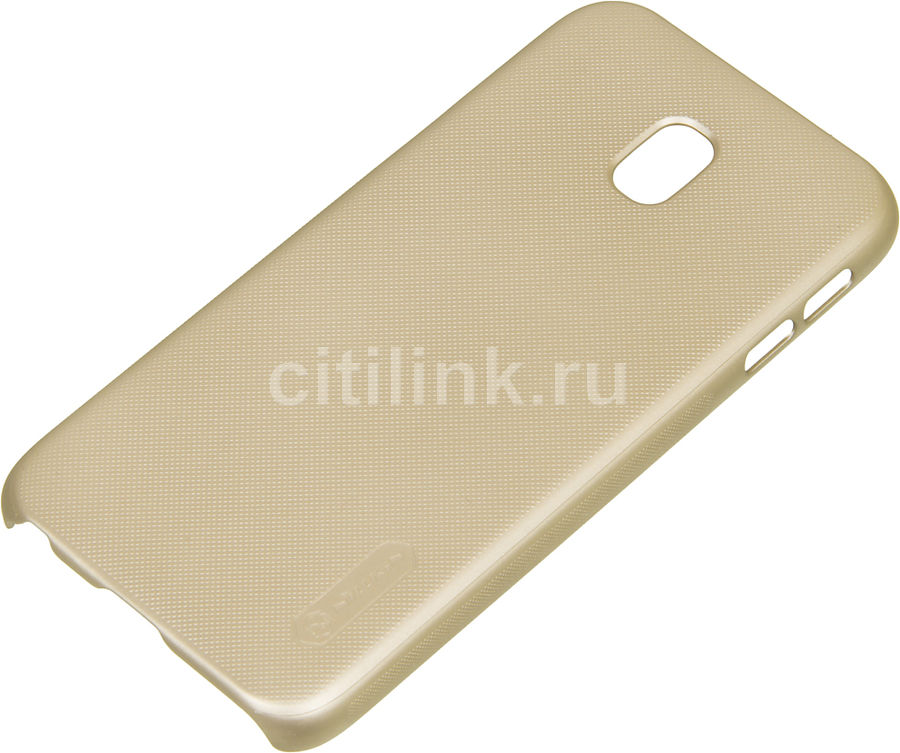 Чехол (клип-кейс) Nillkin Super Frosted Shield, для Samsung Galaxy J3 (2017), золотистый nillkin super frosted shield чехол для samsung galaxy mega 6 3 black
