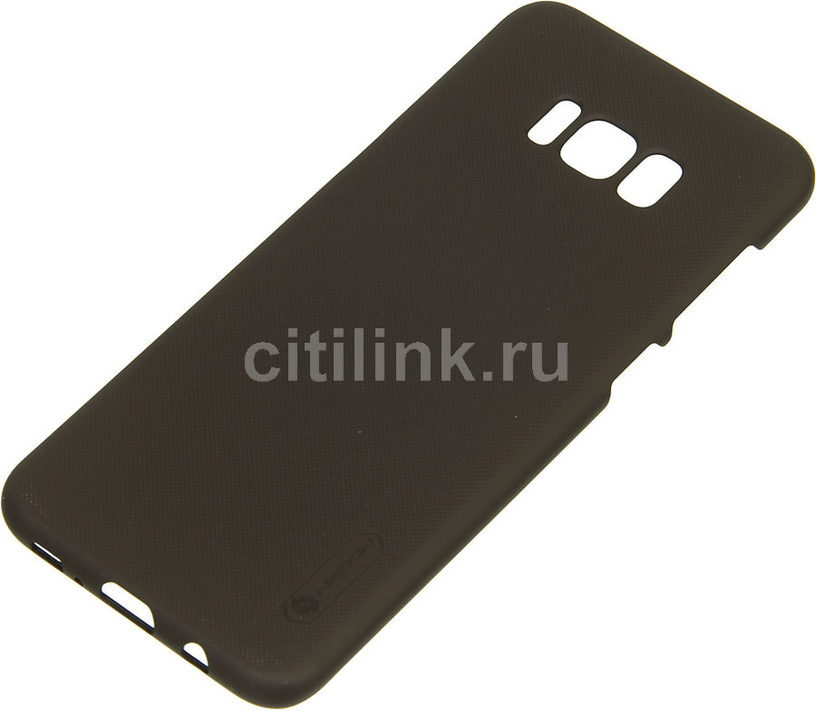 Чехол (клип-кейс) NILLKIN Super Frosted Shield, для Samsung Galaxy S8+, коричневый оригинальный samsung galaxy s8 s8 plus nillkin супер матовая защита щита случай телефона