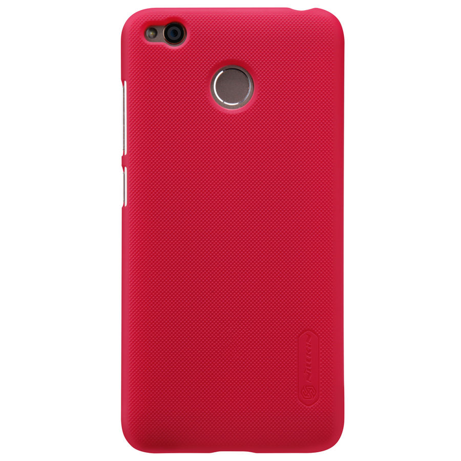 Чехол (клип-кейс) Nillkin Super Frosted Shield, для Xiaomi Redmi 4X, красный stylish aluminum alloy protective bumper frame set for iphone 4 4s black red