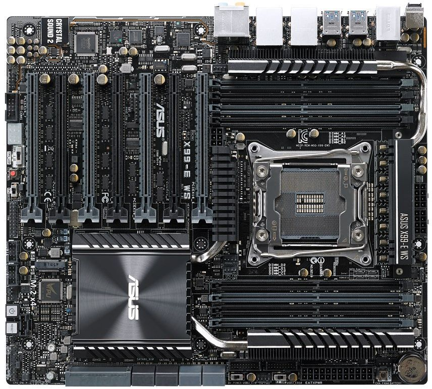 Серверная материнская плата ASUS X99-E WS/USB 3.1,  Ret [90sb05d0-m0eay0]