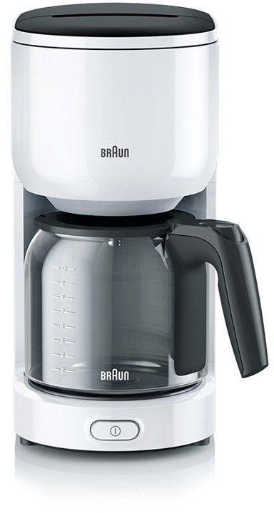 Кофеварка BRAUN KF3120WH,  капельная,  белый  [0x13211018]