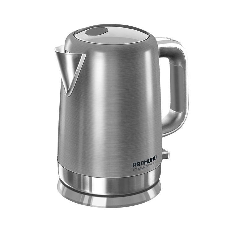 Чайник электрический REDMOND RK-M1263, 2200Вт, серебристый