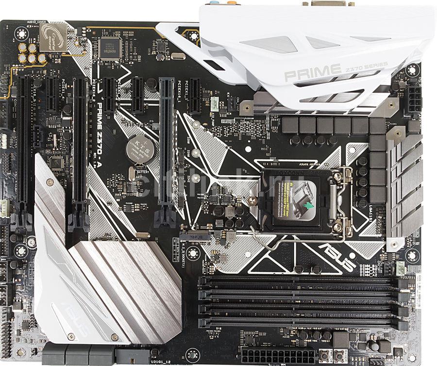 Материнская плата Asus PRIME Z370-A Soc-1151v2 Intel Z370 4xDDR4 ATX AC`97 8ch(7.1 (отремонтированный)