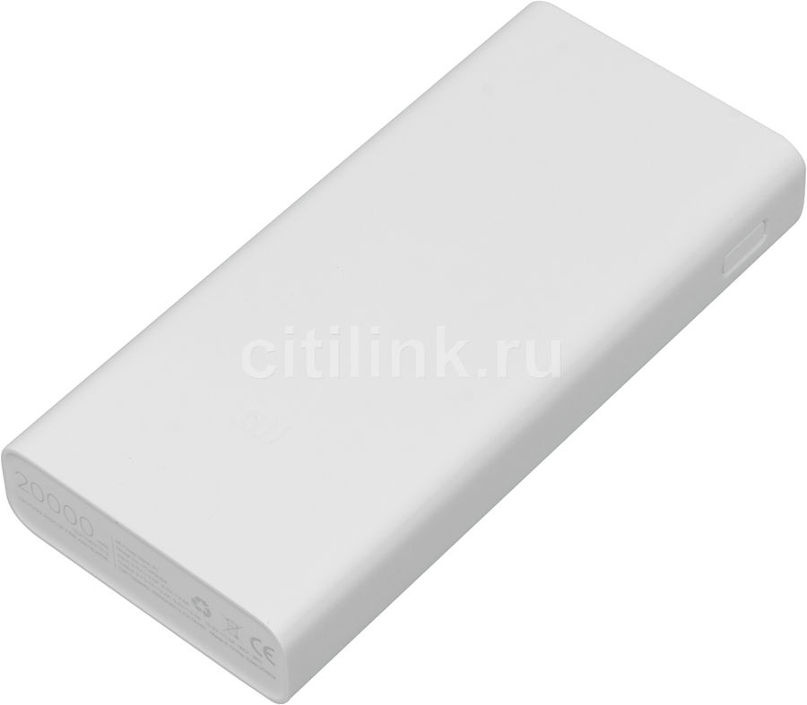Внешний аккумулятор (Power Bank) XIAOMI Mi Power Bank 2C,  20000мAч,  белый