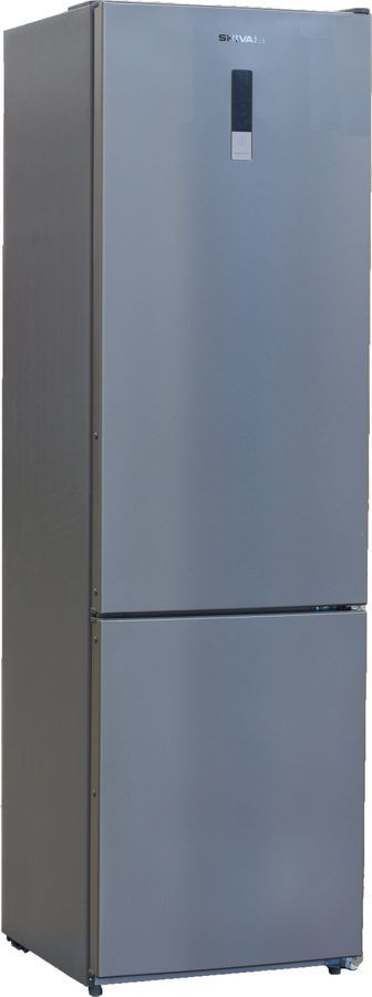 Холодильник SHIVAKI BMR-2001DNFX,  двухкамерный,  нержавеющая сталь