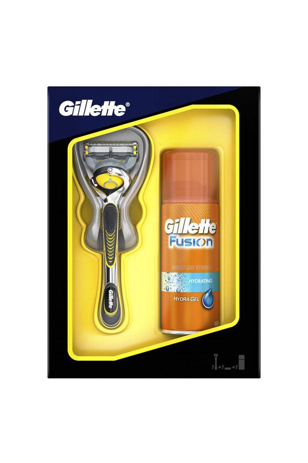Набор подарочный GILLETTE Fusion Proshield, (Станок с 1 сменной кассетой и гель для бритья Hydra gel 75 мл) [gil-81623072]