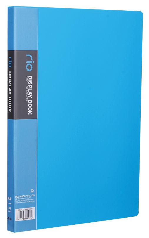 Папка с 30 прозр.вклад. Deli E5033 A4 полипропилен 0.75мм ассорти