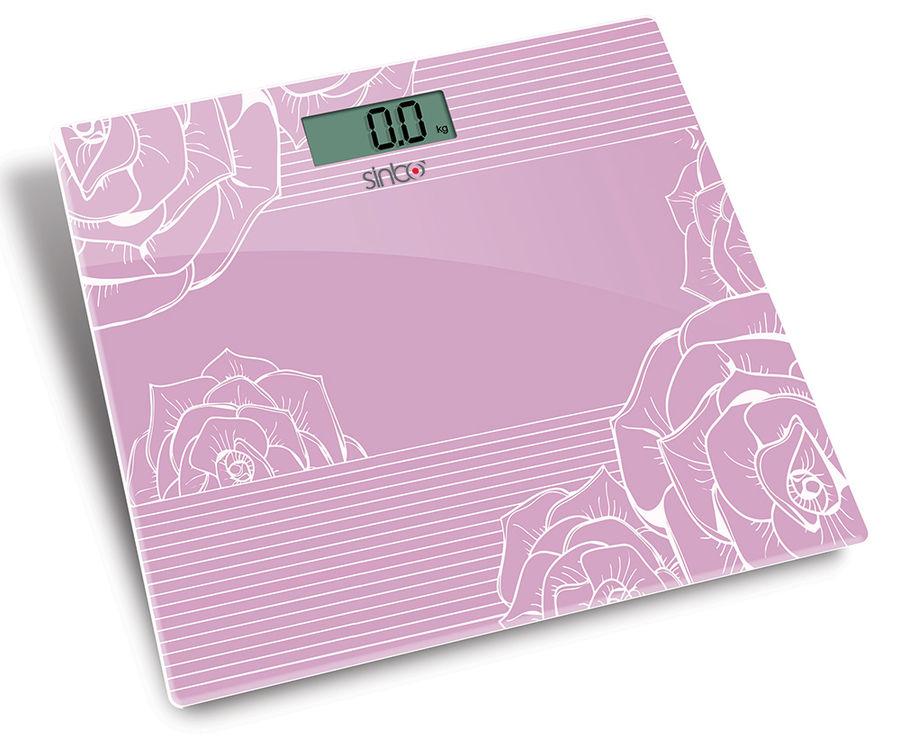 Напольные весы SINBO SBS 4446, до 180кг, цвет: розовый